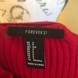 Forever 21 Tops - Forever 21 Red knit top size small